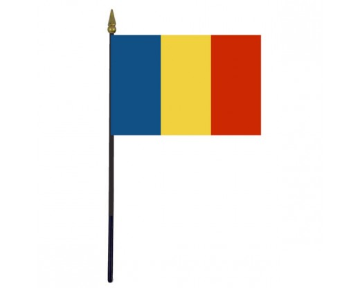 Romania Stick Flag - 4x6""