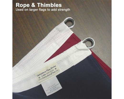 Rope & Thimbles for larger flags