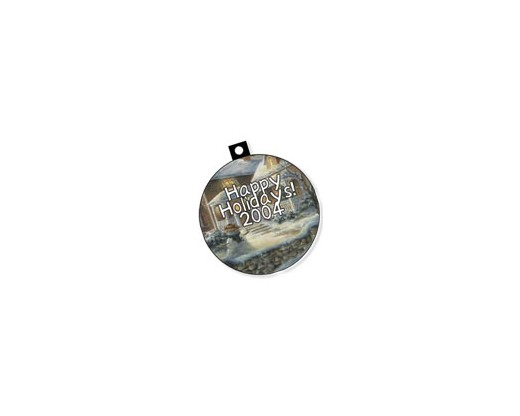 Custom Printed Plastic Christmas Ornament