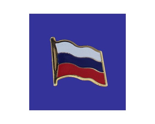 Russian Federation Lapel Pin (Single Waving Flag)