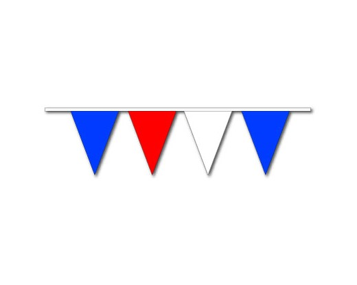 "Red/White/Blue 9x12"" Triangle Pennants"