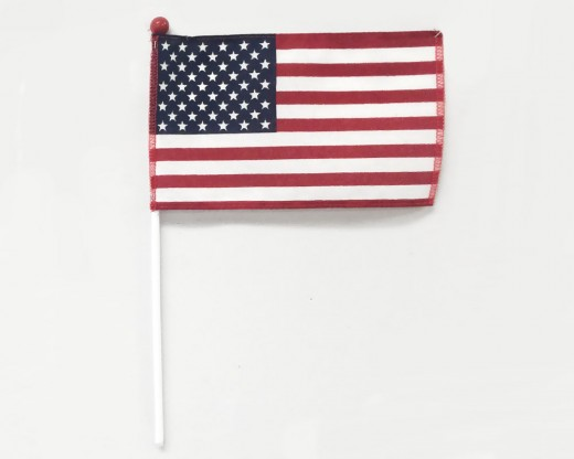 Safety Ball American Stick Flag - 4x6""