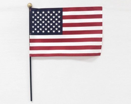 Safety Ball American Stick Flag - 8x12""