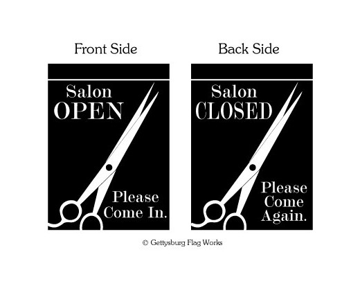 Open Closed Salon Garden Flag Decorative Garden Flags