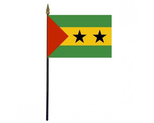 """Sao Tome & Principe Stick Flag - 4x6"""""""