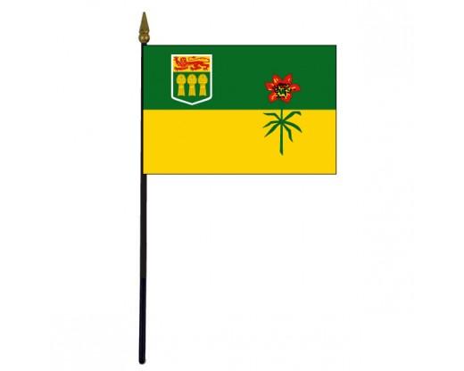 """Saskatchewan Stick Flag - 4x6"""""""