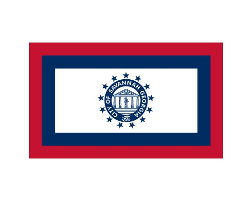 Savannah Flag (Georgia, USA), Header & Grommets - 3x5'