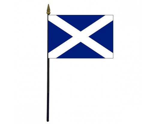 Scotland Cross Stick Flag