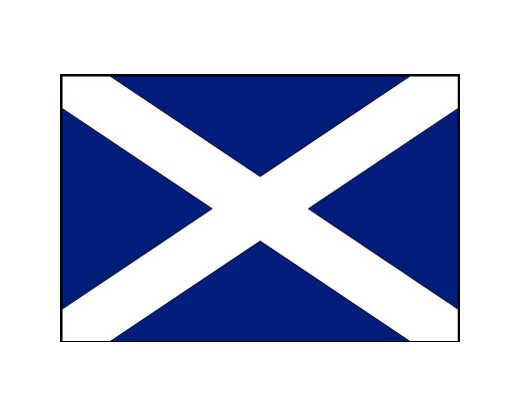Scotland Flag (With Cross) - 4x6'