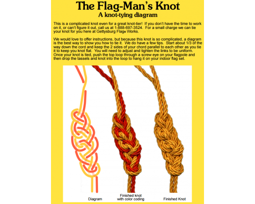 How to tie a Flag-Man's Knot