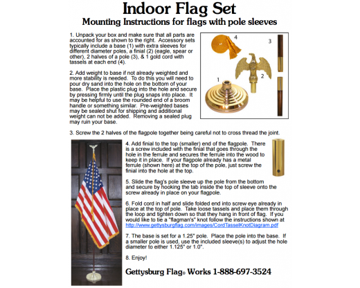 How to set up your indoor flag set