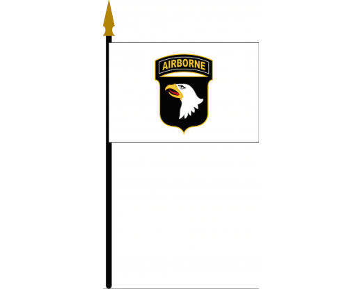 "101st Airborne Stick Flag - 4x6"""