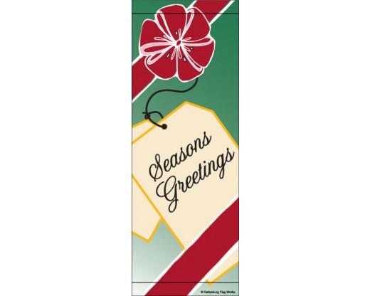 Seasons Greetings Gift Tag Avenue Banner
