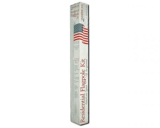 20' Silver Aluminum Flag Pole
