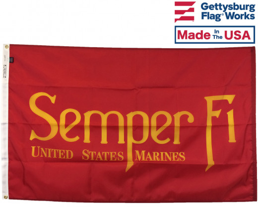 Semper Fi Flag Photograph
