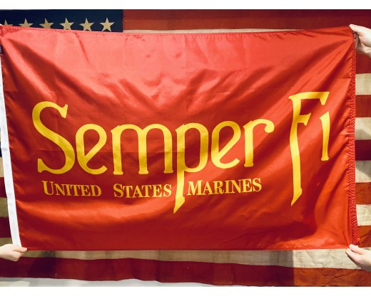 Semper Fi and American Flag