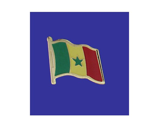 Senegal Lapel Pin (Single Waving Flag)