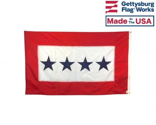 Service Star Flag (4 Blue Stars) - 3x5'