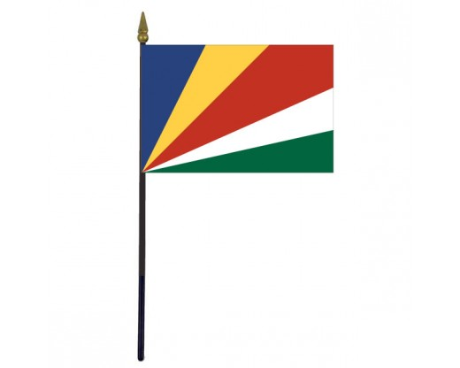 "Seychelles Stick Flag - 4x6"""