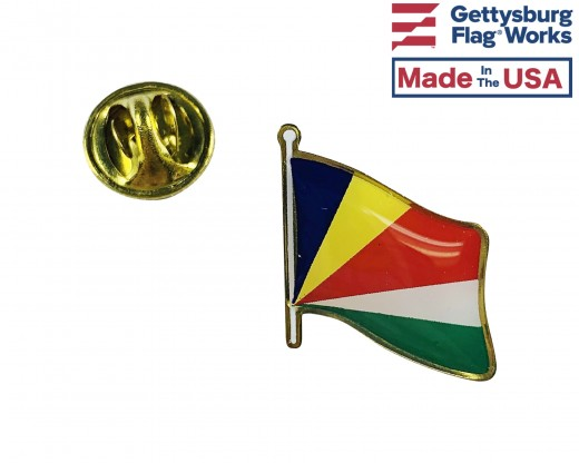 Seychelles Lapel Pin (Single Waving Flag)