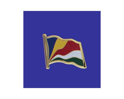 Seychelles Lapel Pin (Single Waving Flag)