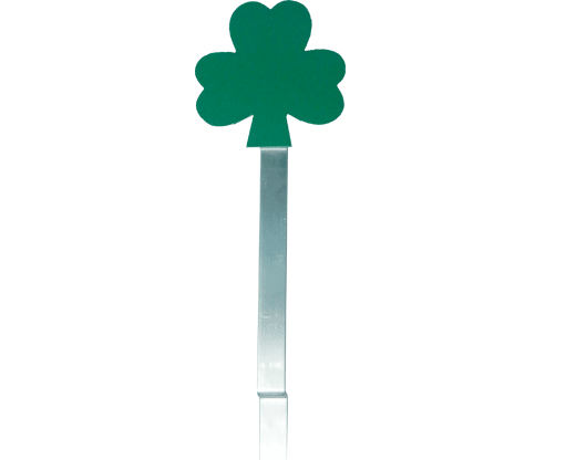 shamrock flag holder grave marker