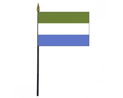 "Sierra Leone Stick Flag - 4x6"""