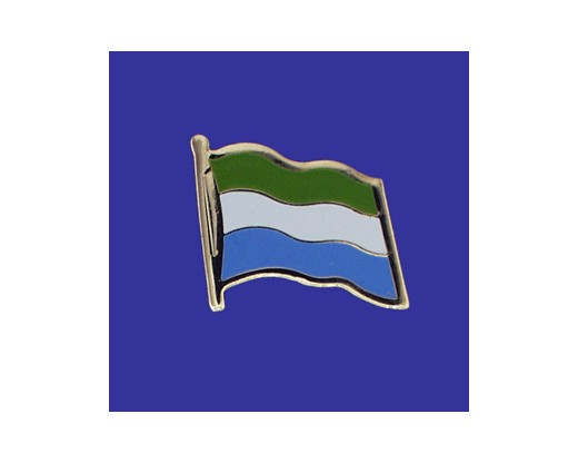 Sierra Leone Lapel Pin (Single Waving Flag)
