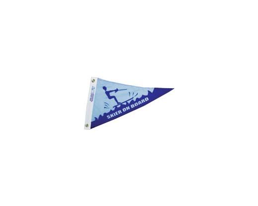 "Skier on Board Triangle Pennant - 10x15"""