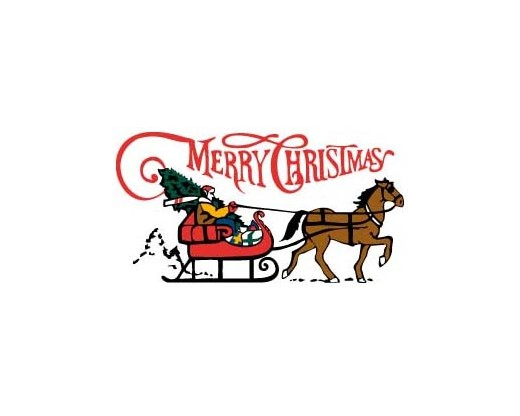 Sleigh, Merry Christmas Flag - 3x5'