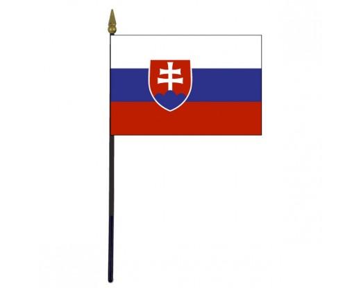 "Slovakia Stick Flag - 4x6"""