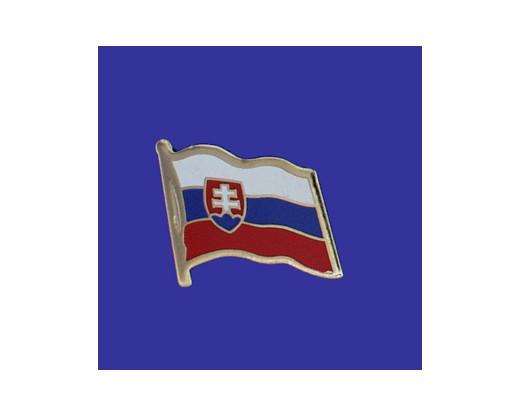 Slovakia Lapel Pin (Single Waving Flag)