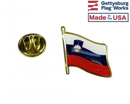 Slovenia Lapel Pin (Single Waving Flag)