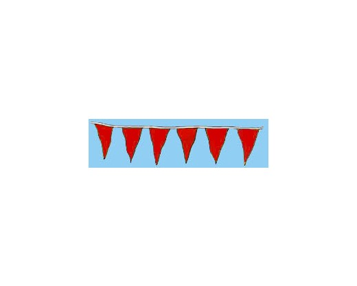 "Solid Color 12x18"" Triangle Pennants"