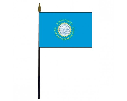 South Dakota State Stick Flag (Dark Blue) - 4x6""
