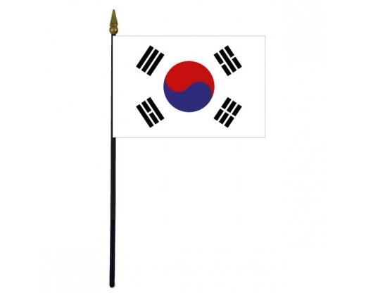 """South Korea Stick Flag - 4x6"""""""