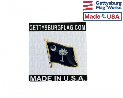 South Carolina State Flag Lapel Pin (Single Waving Flag)