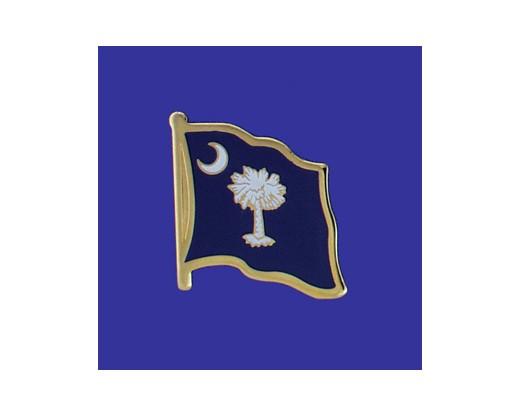 South Carolina State Flag Lapel Pin (Single Waving Flag) (Imported - Close Out)