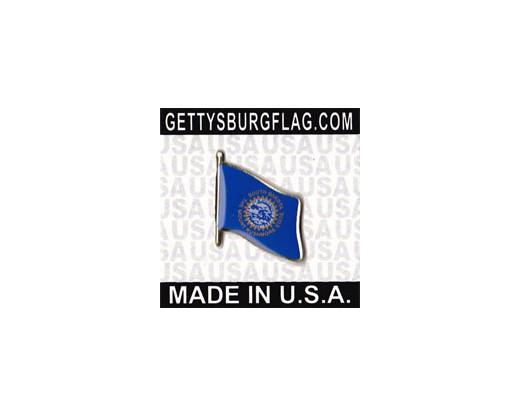 South Dakota State Flag Lapel Pin (Single Waving Flag)