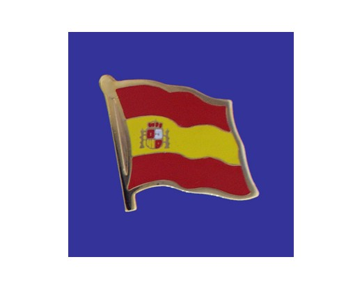 Spain (seal design) Lapel Pin (Single Waving Flag) (Imported - Close Out)