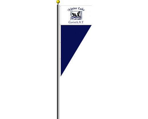 Spike flag displayed with standard flag on flagpole