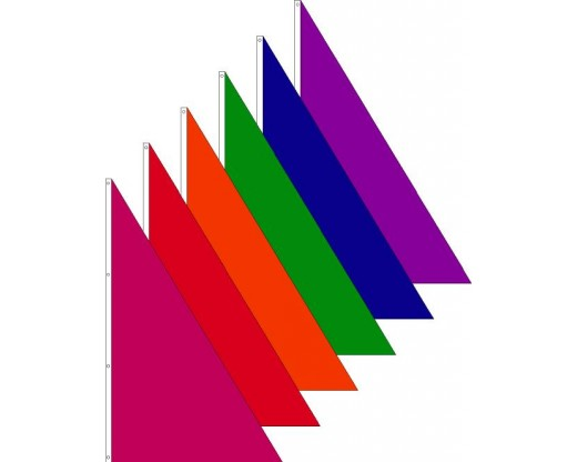 Colorful Triangle Spike Flags