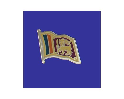 Sri Lanka Lapel Pin (Single Waving Flag)