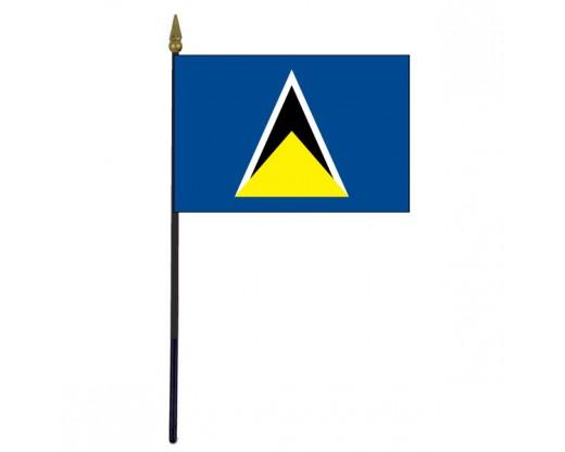 "St. Lucia Stick Flag - 4x6"""