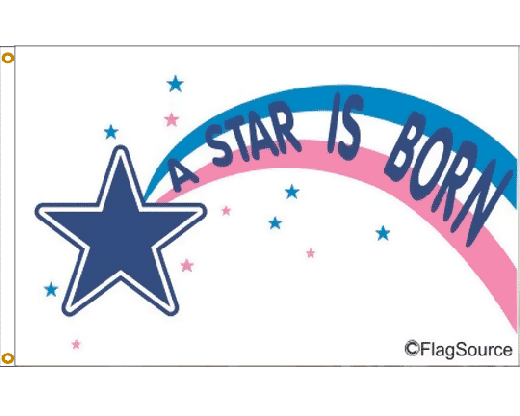 Star is Born Flag - 3x5'