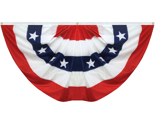Patriotic Pleated Fan Nylon