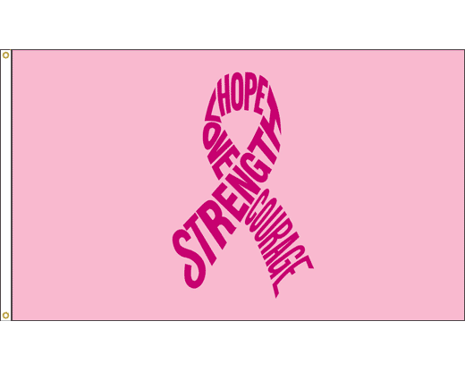 Strength, Breast Cancer Flag