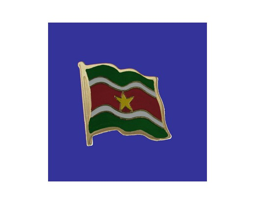 Suriname Lapel Pin (Single Waving Flag)