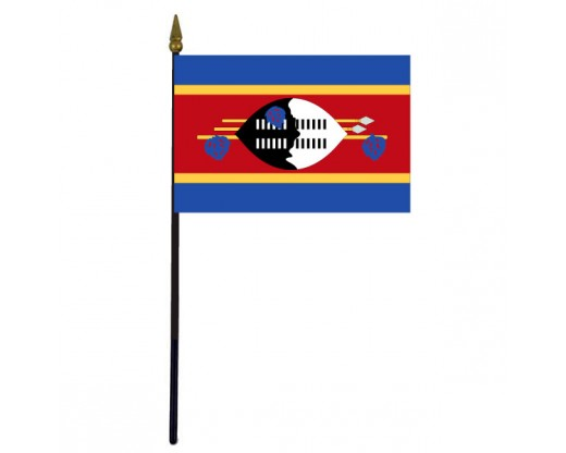 Swaziland Stick Flag - 4x6""