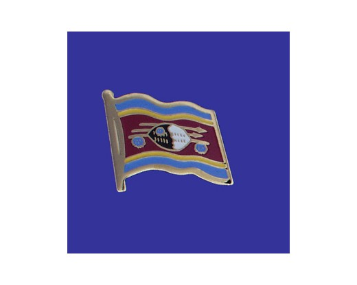 Swaziland Lapel Pin (Single Waving Flag)